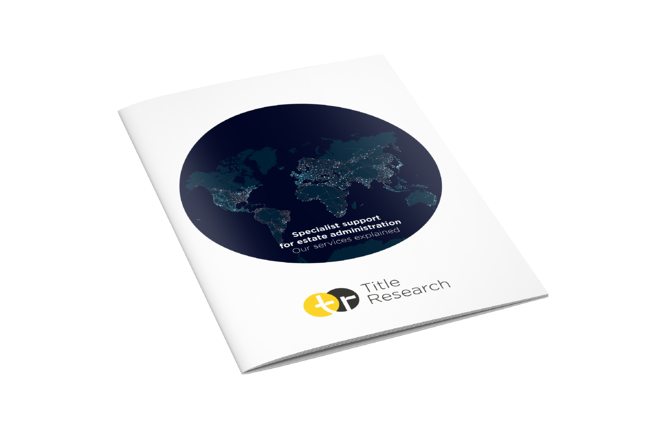 The Title Research brochure