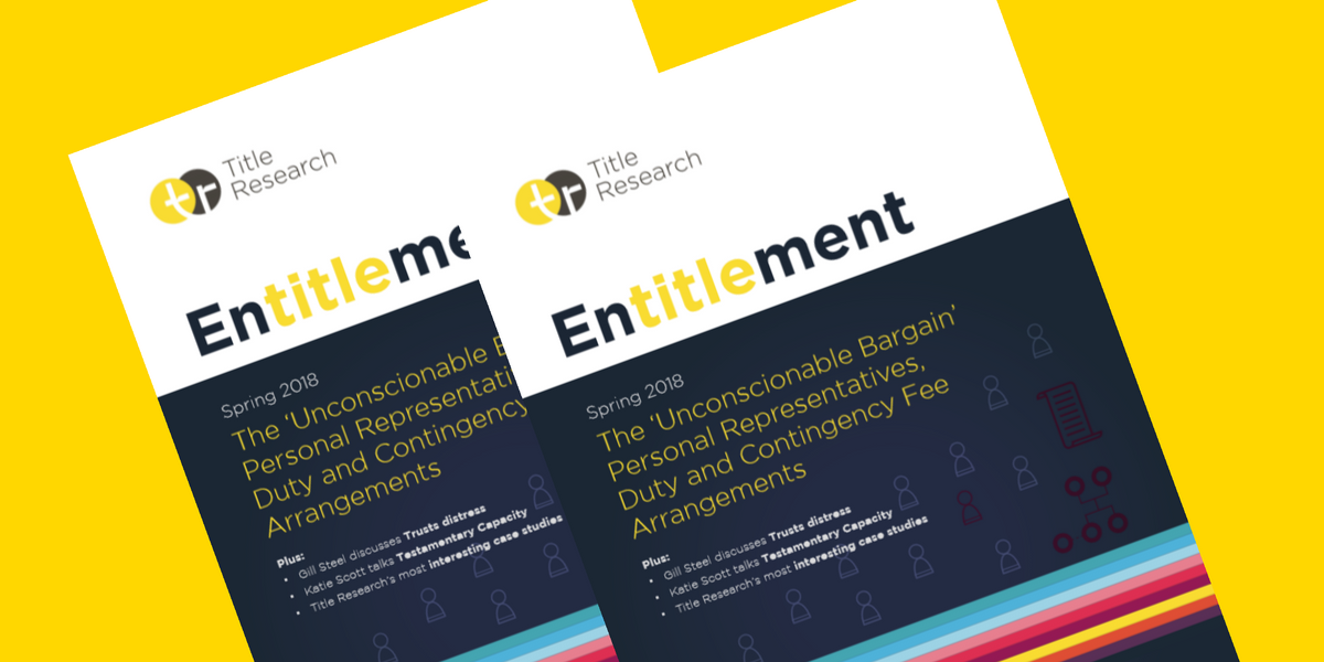 NOW AVAILABLE: The Spring Edition of Entitlement from Title Research.